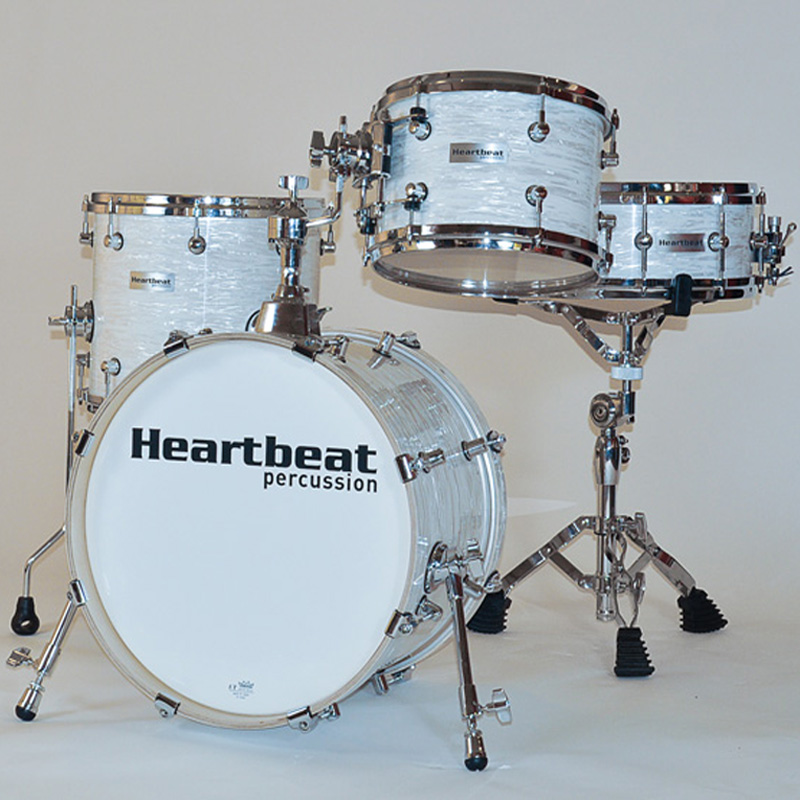 Heartbeat DSM Maple Drum Sets Vintage White