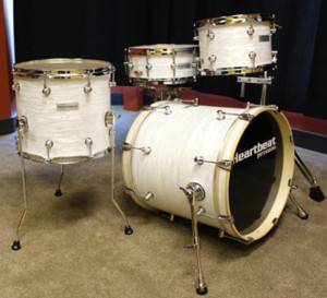 Heartbeat White Drum Set Prototype