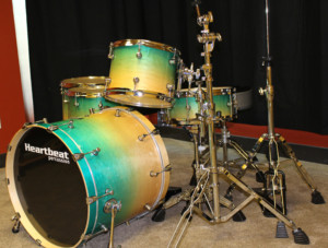 Heartbeat Green Drum Set Prototype